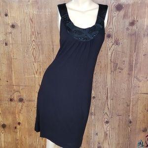 INC black beaded tunic dress size large